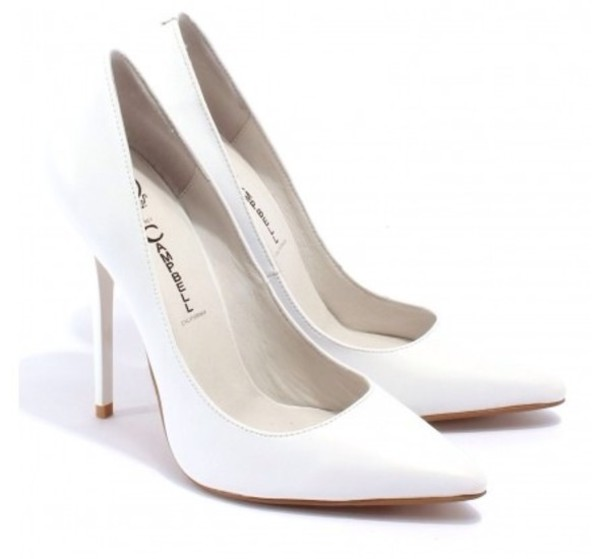 Shoes: white high heels, white pumps, pumps, white, jeffrey ...