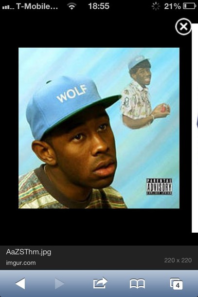 hat wolfgang snapback blue baby blue light blue green tyler the creator wolf bfaea8f5d7e