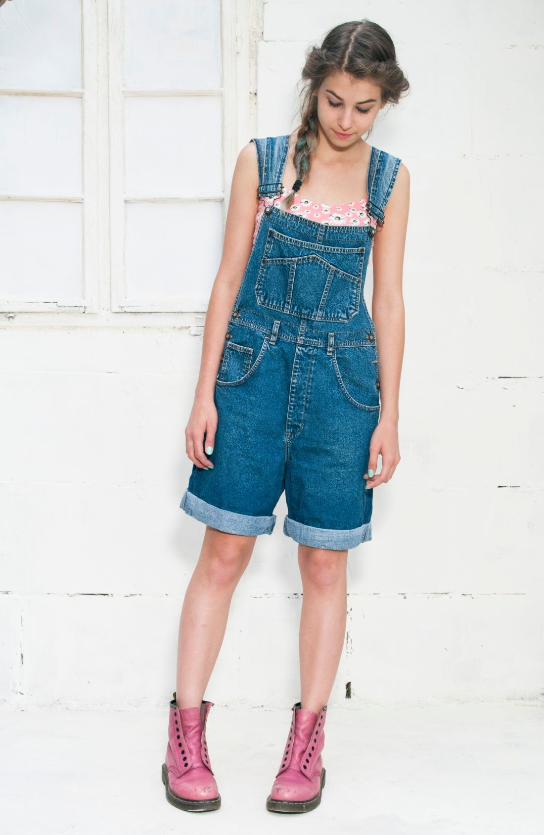 Denim dungaree - Pop Sick Vintage
