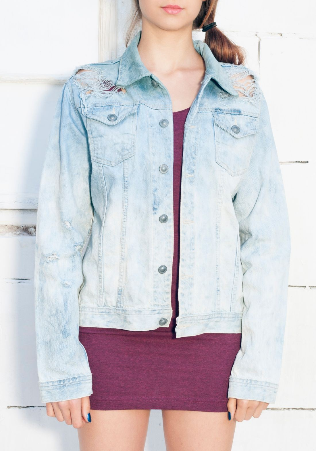 Ombre denim jacket - Pop Sick Vintage