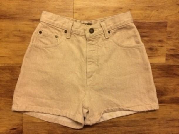 khaki denim shorts