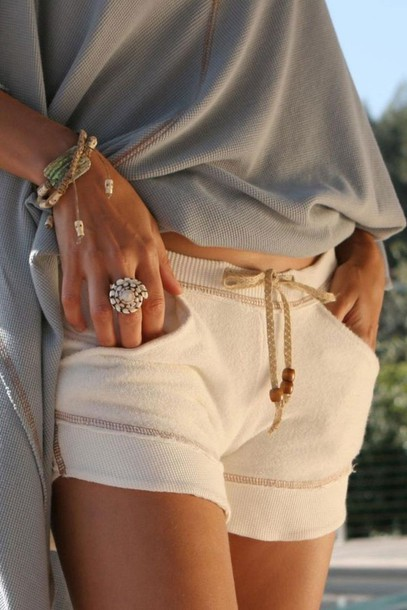 shorts jacket jewels blouse