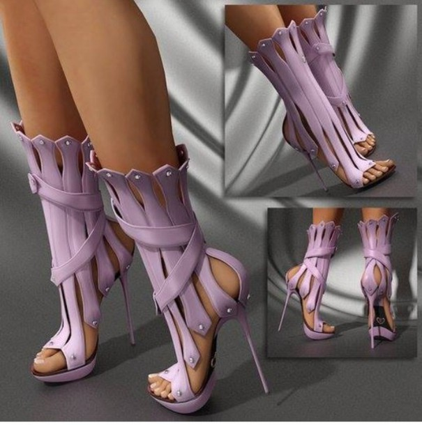 a5b8cf943fce shoes lavender heels gladiators high heels stilettos series