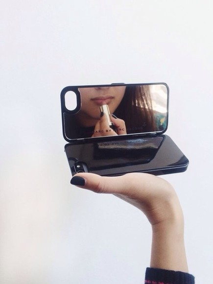jewels mirror black iphone iphone 5 case iphonecase lookalike marc jacobs marc jacobs phone case sunglasses phone helpfull iphone case case mirrorcase iphone 5 cases iphone 4 cases mirror iphone case phone case mirror case phone case iphone 5