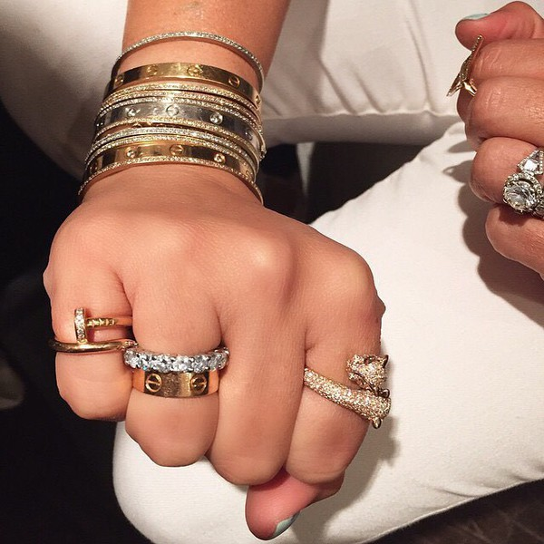 jewels jewelry bracelets stacked bracelets ring gold gold ring gold bracelet diamonds ring silver
