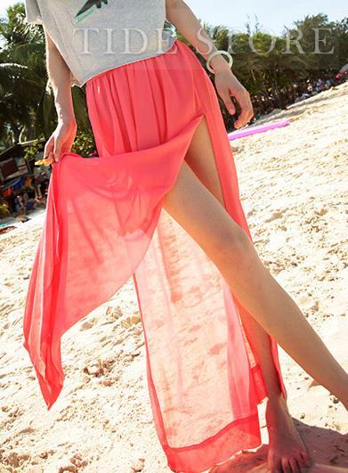 New Arrival Stylish  Split-front Long Skirt: tidestore.com