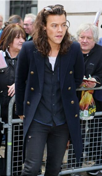 coat harry styles one direction shirt fall outfits