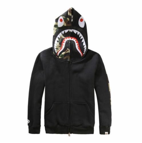 337fb0c2 New Bape A Bathing ape Jacket SHARK Head Camo FULL ZIP ...