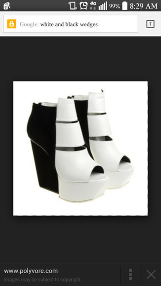 peep toe heels black and white must have