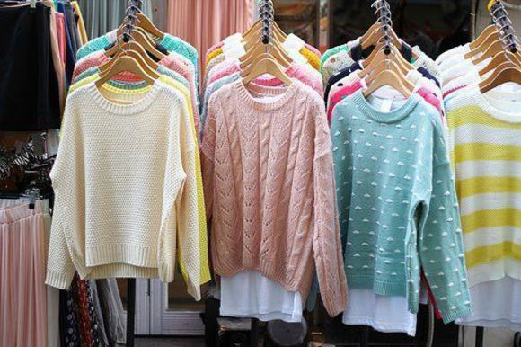 sweater colourful swimwear lovely pepa cool shirts high-low dresses sweetheart dresses pink yellow jumper green pastel chunky knitwear fashion girl tumblr blue oversized sweater