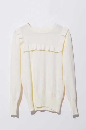 top blouse shirt ruffle bib