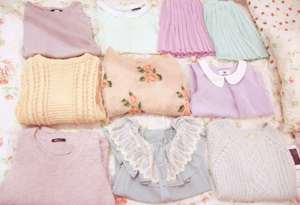 shirt pastel skirt blouse pastel flowers floral pink purple vintage lila retro yellow cardigan flowers in sweet sweater pastel tumblr shirt girly t-shirt sweater tees
