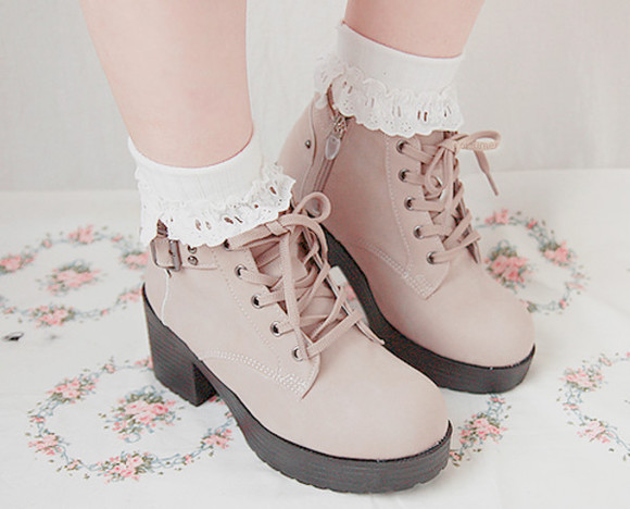 high heels laces buckles