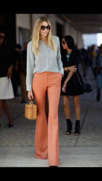 pants coral pants