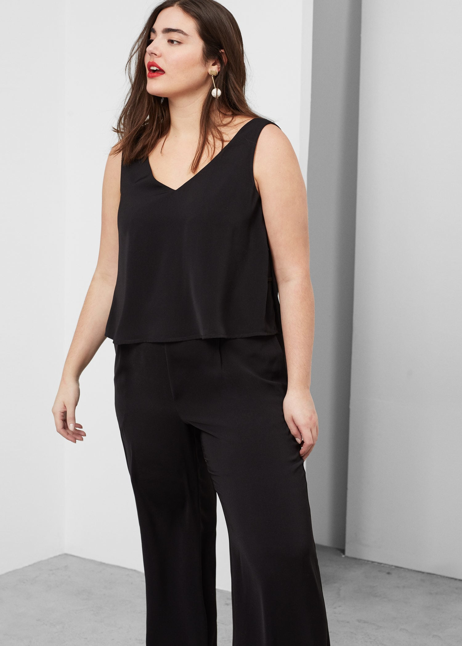 Flowy long jumpsuit - Jumpsuits Plus sizes | Violeta by MANGO USA
