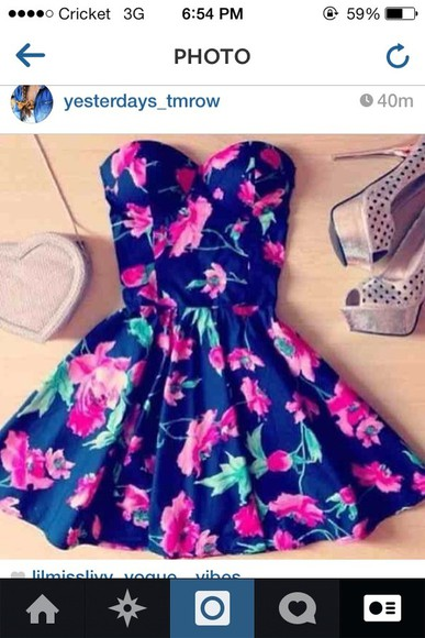 dress floral dress high heels bags and purses shoes bag