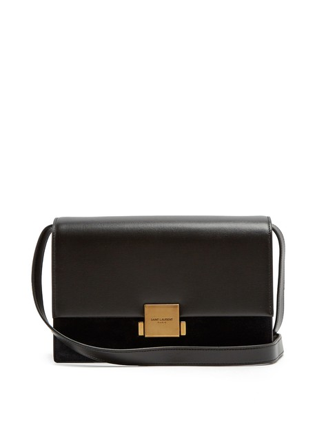 Saint Laurent bag suede bag leather suede black