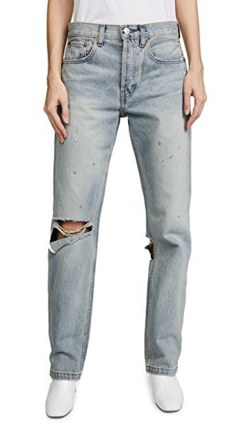 Re/Done jeans straight jeans grunge