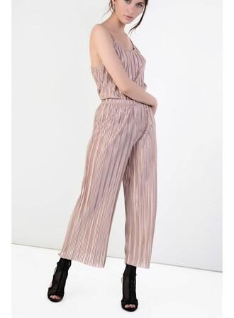 pants metallic culottes