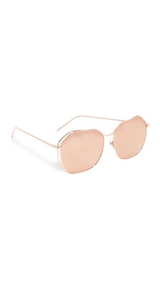 rose gold rose geometric sunglasses mirrored sunglasses gold