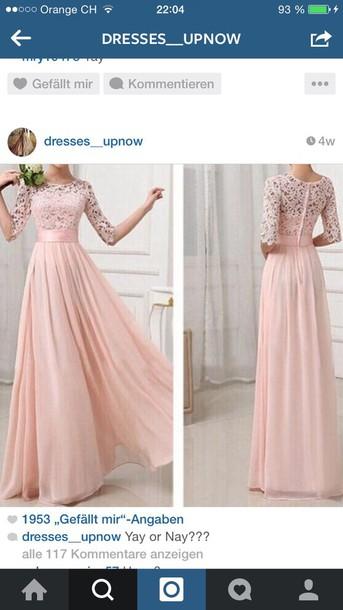 dress pink dress formal dress long dress