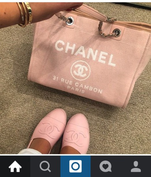 chanel girly pastel bag