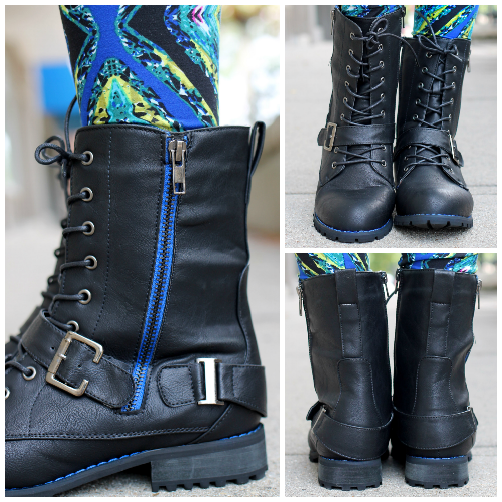 Combat Boot with Zipper Chapter-4 | uoionline.com: Women's Clothing Boutique
