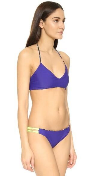 bikini bikini top floral black swimwear
