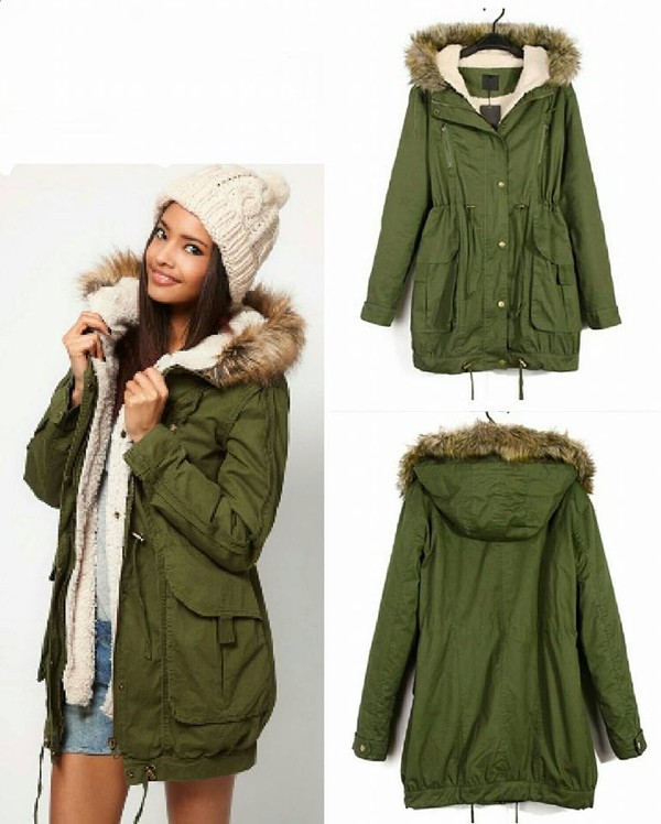 coat green fur fur coat