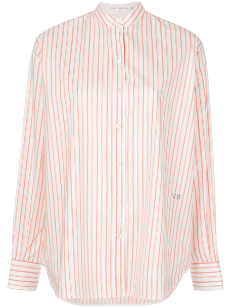 Victoria Beckham shirt striped shirt women white cotton top