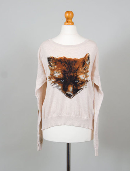 topshop sweater fox