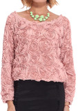 3D Embossed Roses Chiffon Blouse (MANY colors available) – Glamzelle