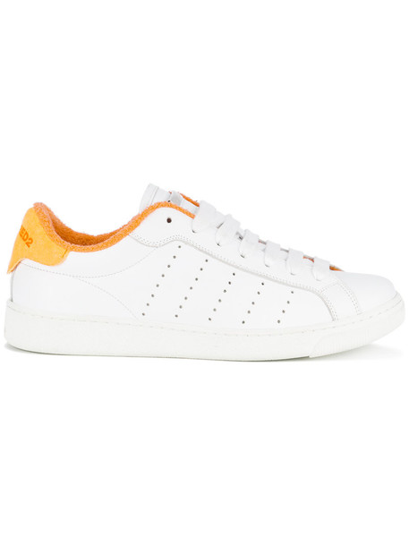 Dsquared2 women sneakers leather white cotton shoes