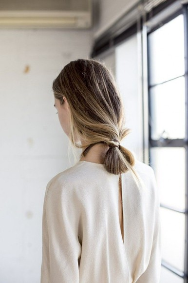 slit blouse cream neutral cut-out knitwear comfy clothes