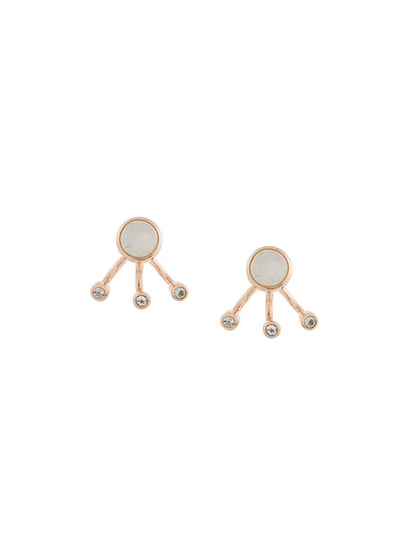 Pamela Love women earrings gold silver white grey metallic jewels
