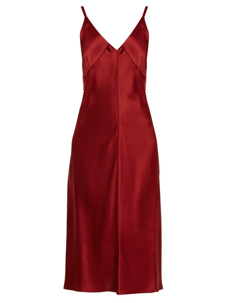 Helmut Lang dress slip dress satin burgundy