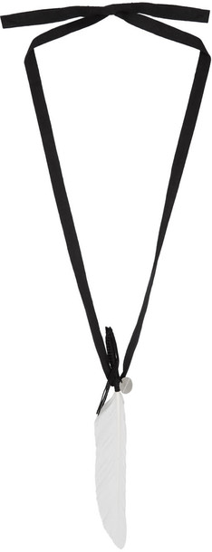 ANN DEMEULEMEESTER necklace white black black and white jewels