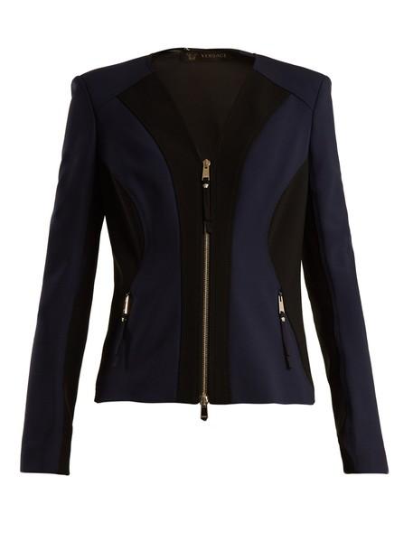 VERSACE jacket navy black