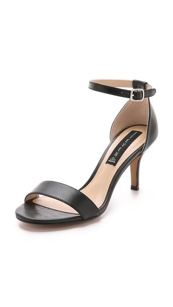 Steven Vienna Leather Sandals - Black