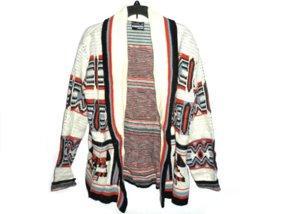 native american sweater cute vintage indie clothes unisex fashion 60s 70s 80s tribal jacket hippie chic bohemian large sweater thick sweater hipster style oversized cardigan aztec sweater
