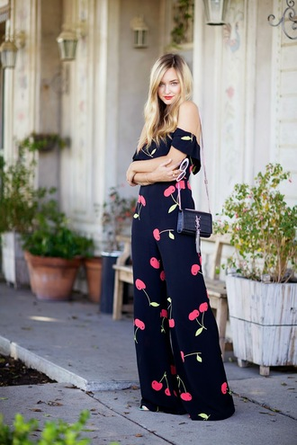 late afternoon sunglasses bag jewels jumpsuit blogger