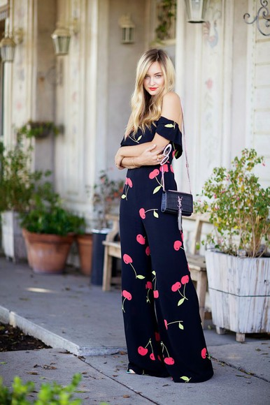 late afternoon blogger bag sunglasses jewels jumpsuit