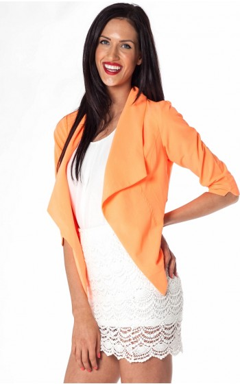 pina colada blazer in neon orange showpo fashion online. Black Bedroom Furniture Sets. Home Design Ideas