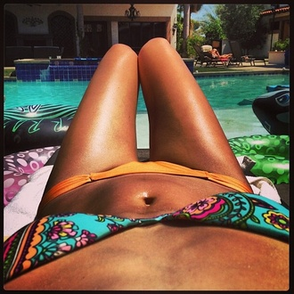 swimwear bikini pattern bikini beach patterned bikini bottoms bandeau tie dye string bikini orange short low cut low