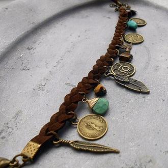 jewels bracelets boho gold fashion vintage gold sequins leather burlap feathers friends california