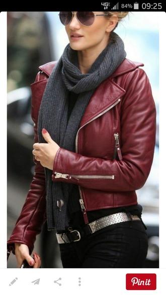 jacket leather burgundy leather jacket faux red crimson
