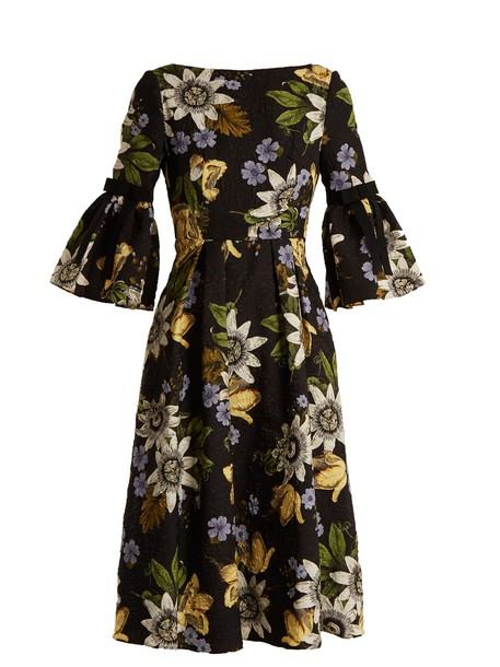 Erdem dress floral print black