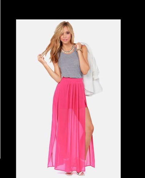 skirt maxi skirt slit skirt