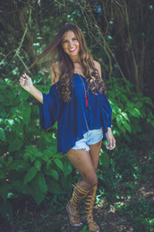top,open shoulder,exposed,exposed shoulder,exposed shoulders,tunic,shirt,blouse,boho,summer,summertime,summer outfits,summer top,style,trendy,boho chic,bohemian,easy,lace,crochet,cochet detail,crochet detail,floral,floral detail,cut offs,denim,shorts,gladiators,tassel,fringes,music,festival,music festival,summer festival,style\,indie,prep,beach,holidays,entourage