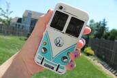 jewels,coque,iphone,phone cover,volkswagen,iphone 4 case,iphone 4/4s,phone,into the wild,car,van,tights,blue white